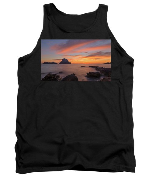 The Sunset On The Island Of Es Vedra, Ibiza Tank Top