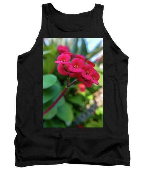 Tiny Red Flowers Tank Top