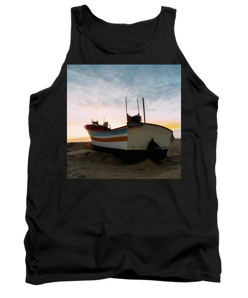 Traditional Wooden Fishing Boat Tank Top