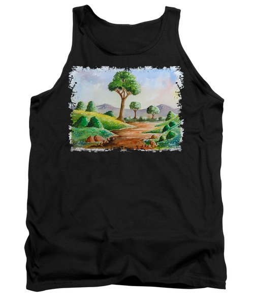 Trees And Flowers Tank Top