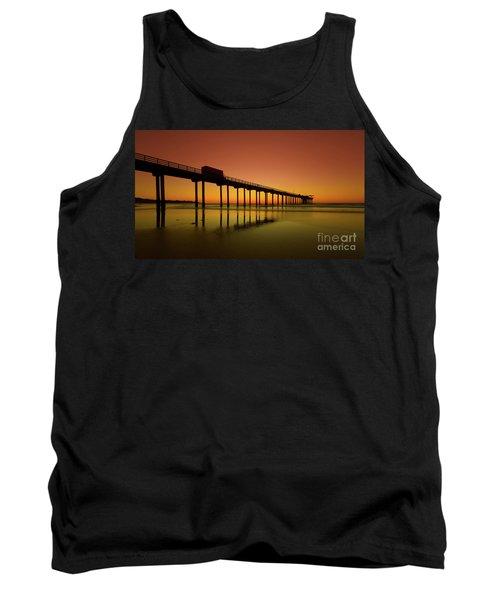Twilight On The Beach Scripps Pier La Jolla San Diego Ca Tank Top