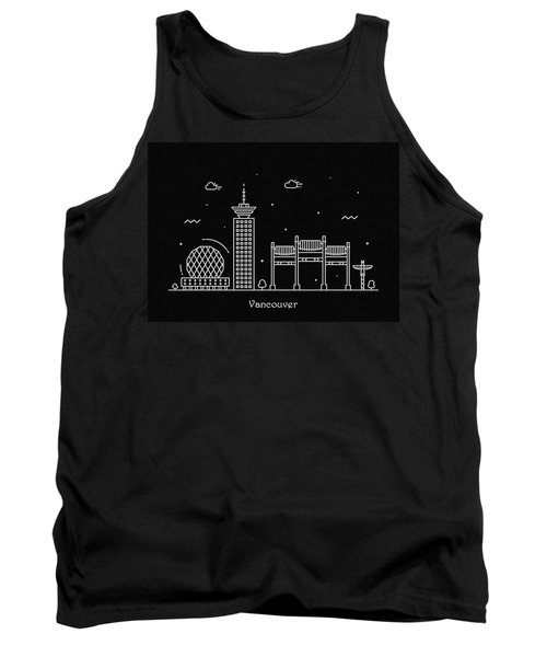 Vancouver Skyline Travel Poster Tank Top