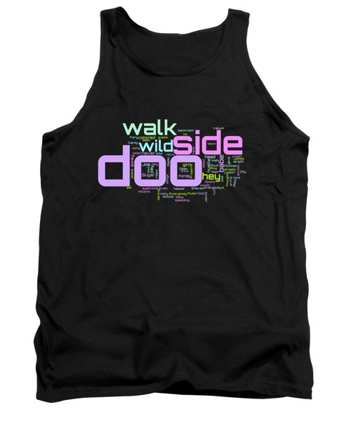 Walk On The Wild Side - Lou Reed Lyrical Cloud Tank Top