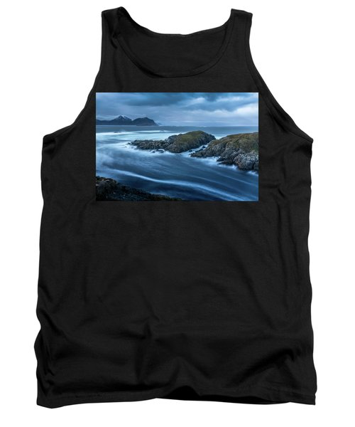 Water Flow At Stormy Sea Tank Top