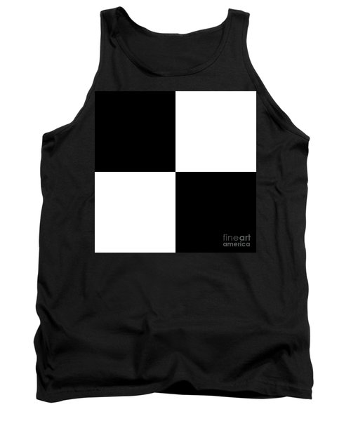 White And Black Squares - Ddh586 Tank Top