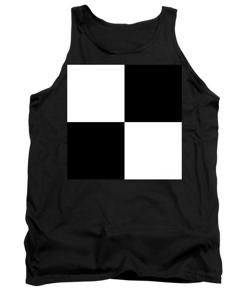 White And Black Squares - Ddh588 Tank Top