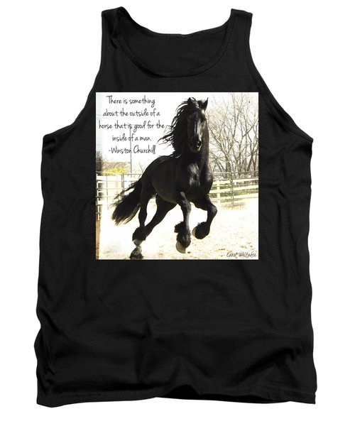 Winston Churchill Horse Quote Tank Top