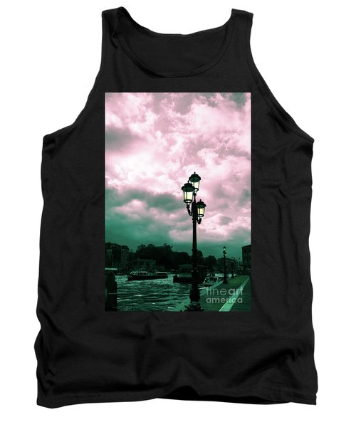 Winter Venice Lantern On The Embankment Tank Top