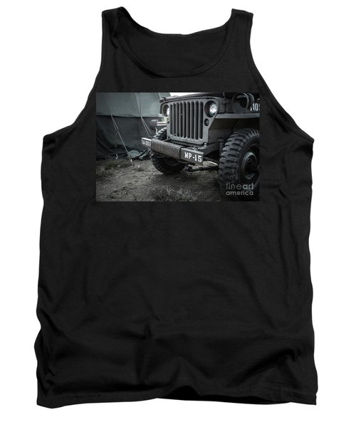World War II Us Army Mp Jeep Tank Top