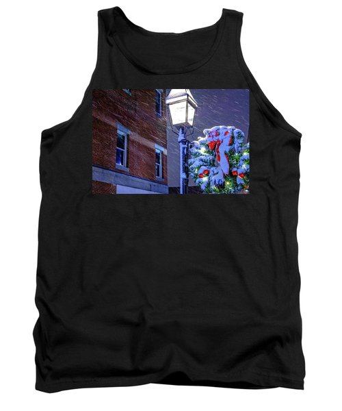 Wreath On A Lamp Post Tank Top