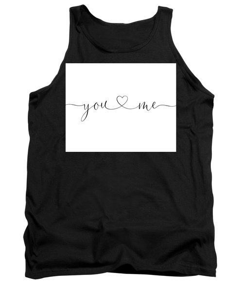 You And Me Black And White Tank Top