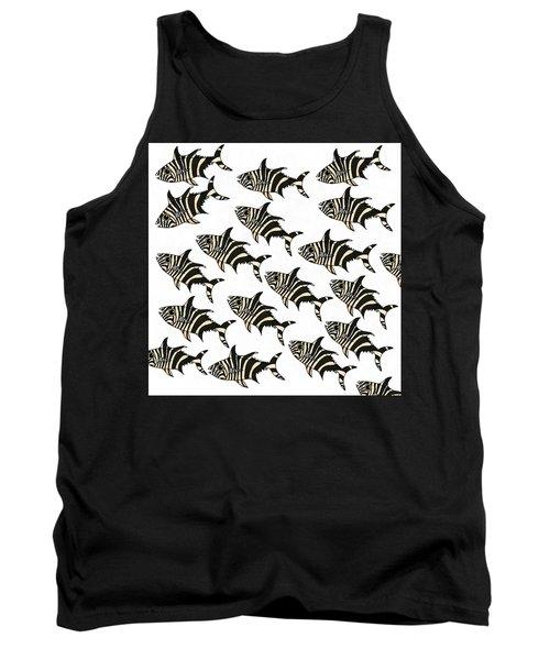 Zebra Fish 7 Tank Top