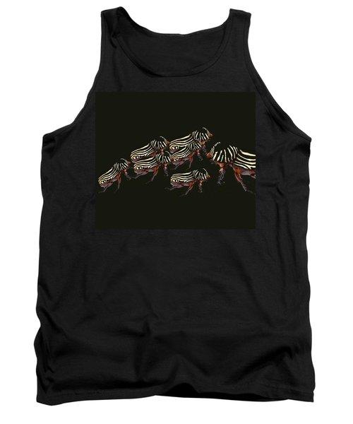 Zebra Pattern Rhinoceros Beetle 3 Tank Top