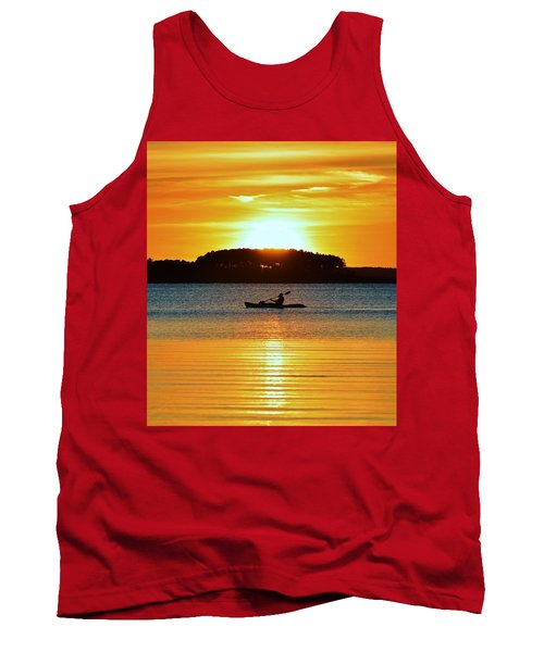 A Reason To Kayak - Summer Sunset Tank Top