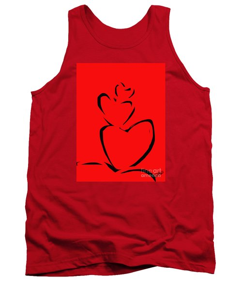 Tank Top featuring the painting  A Stack Of Hearts by Go Van Kampen