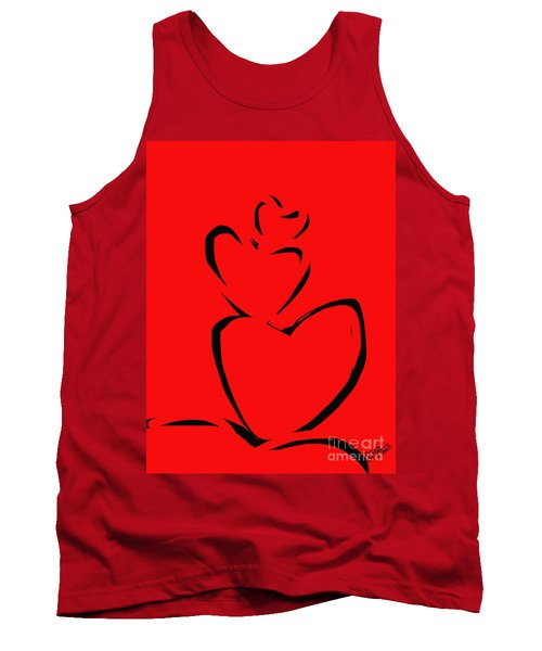 A Stack Of Hearts Tank Top