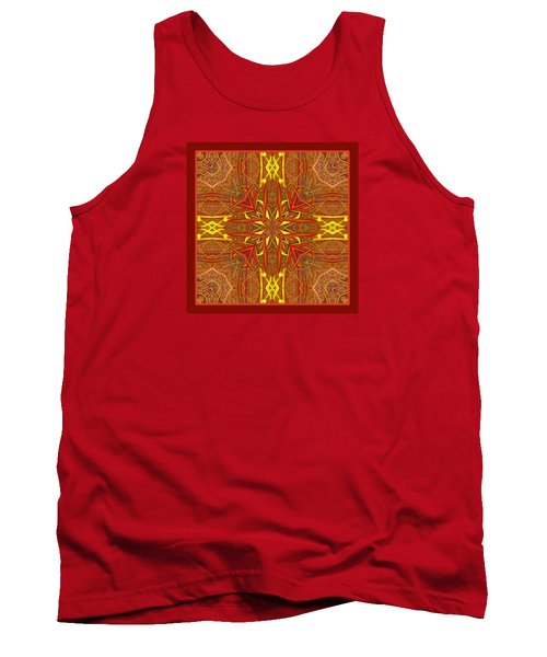 Tank Top featuring the photograph  Keltic Cross by I'ina Van Lawick