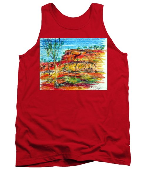 Tank Top featuring the painting  Kimberly Bold Cliffs Australia Nt by Roberto Gagliardi