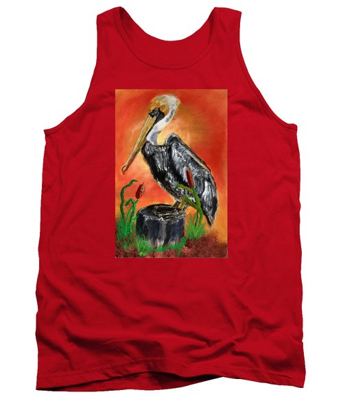 082914 Pelican Louisiana Pride Tank Top