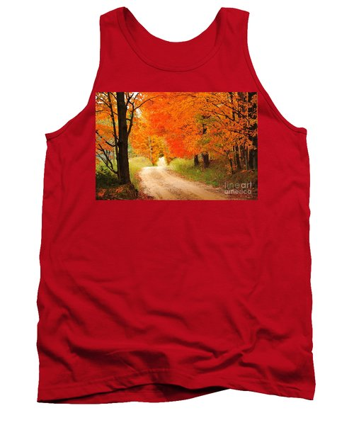 Tank Top featuring the photograph Autumn Trail by Terri Gostola