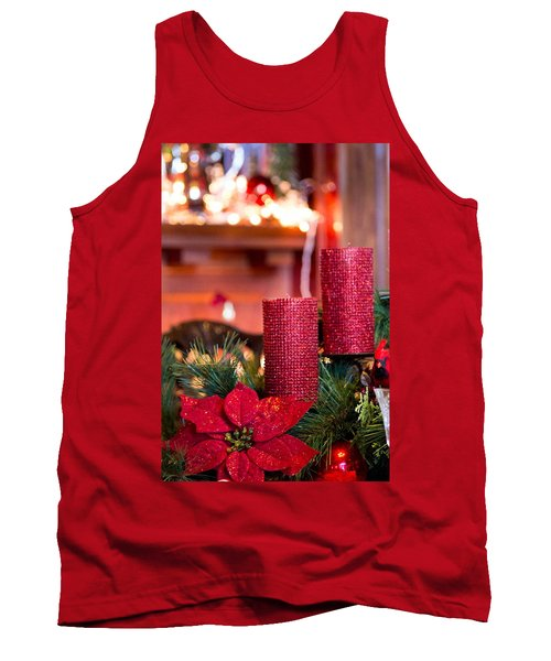 Christmas Candles Tank Top by Patricia Babbitt