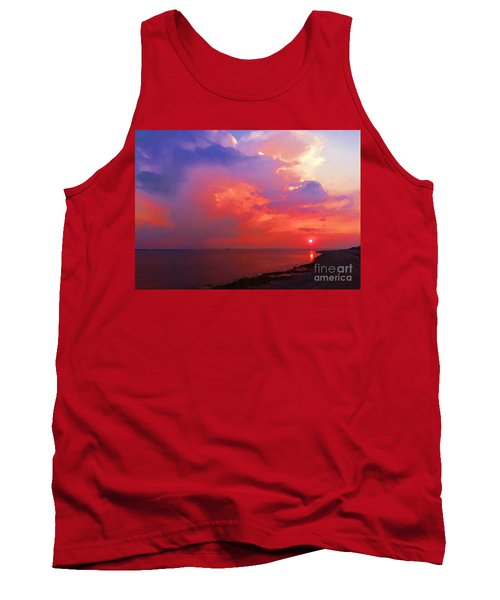 Tank Top featuring the photograph Fire In The Sky by Holly Martinson