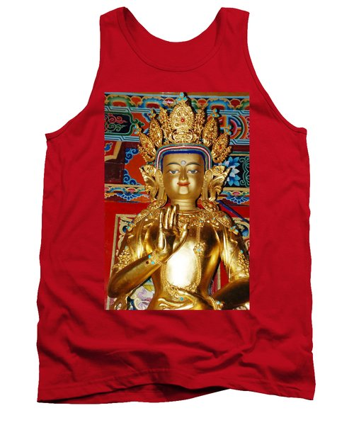 Tank Top featuring the photograph Five Dhyani Buddhas by Lanjee Chee