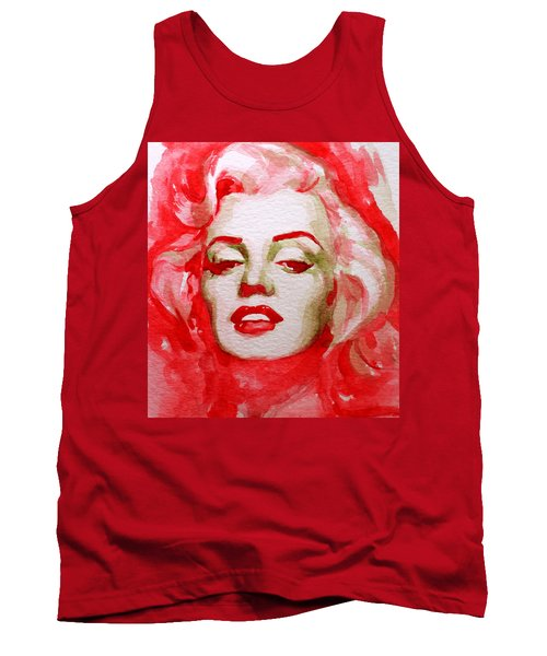 Tank Top featuring the painting Marilyn by Laur Iduc