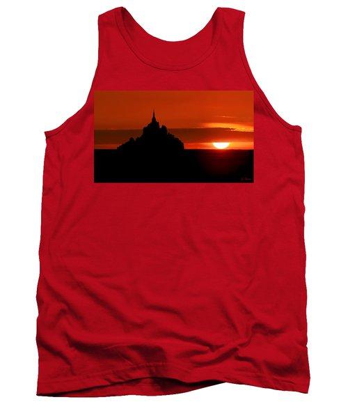 Mont St Michel Sunset Tank Top