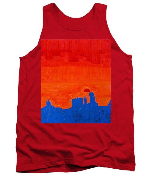 Monument Valley Original Painting Tank Top by Sol Luckman