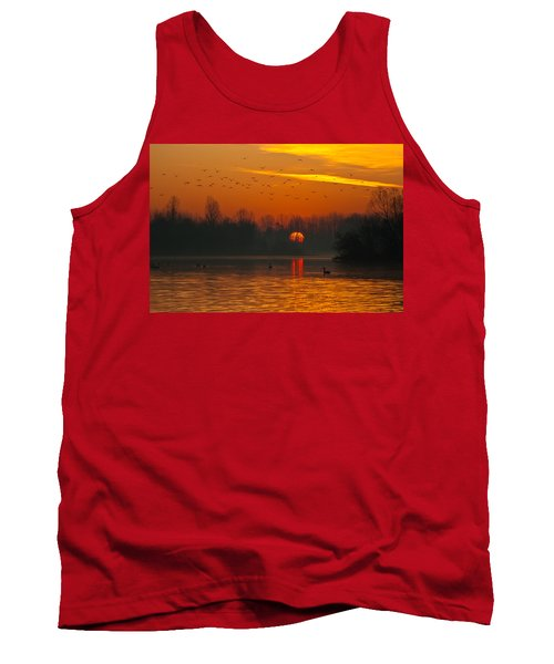 Morning Over River Tank Top