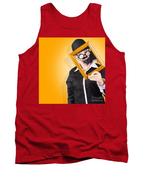 Person Setting Their Social Media Profile Picture Tank Top