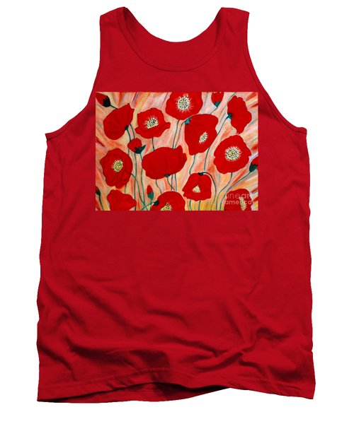 Poppies. Inspirations Collection. Tank Top