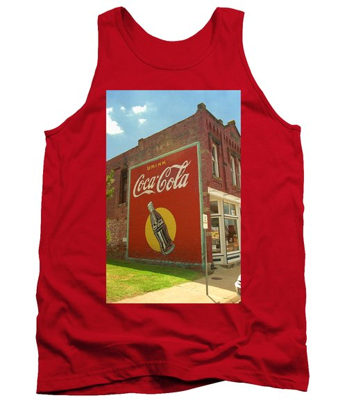 Route 66 - Coca Cola Ghost Mural Tank Top by Frank Romeo