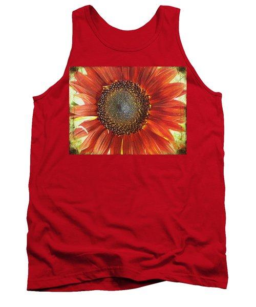 Sunflower Tank Top by Kathy Bassett