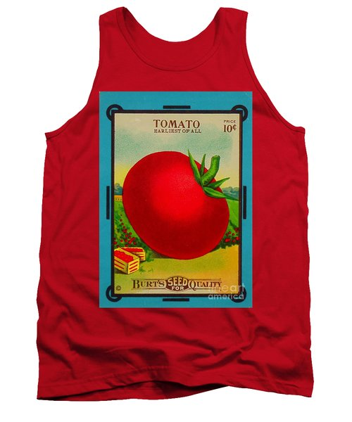 Tomato Seed Package. Antique. 100 Years Old Tank Top
