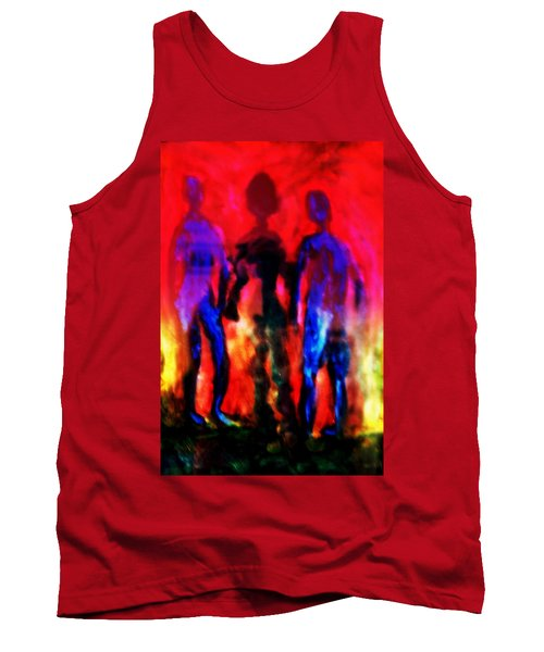 Two Real Men And A Shadow Woman Between Them  Tank Top