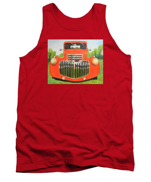 1946 Red Chevy Truck Tank Top