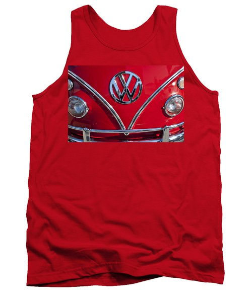 1964 Volkswagen Vw Double Cab Emblem Tank Top