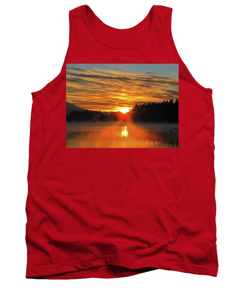 Tank Top featuring the photograph American Lake Sunrise by Tikvah's Hope