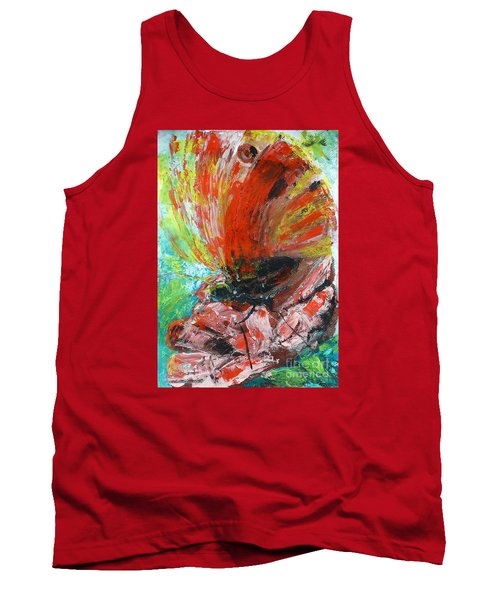 Butterfly And Flower Tank Top by Jasna Dragun