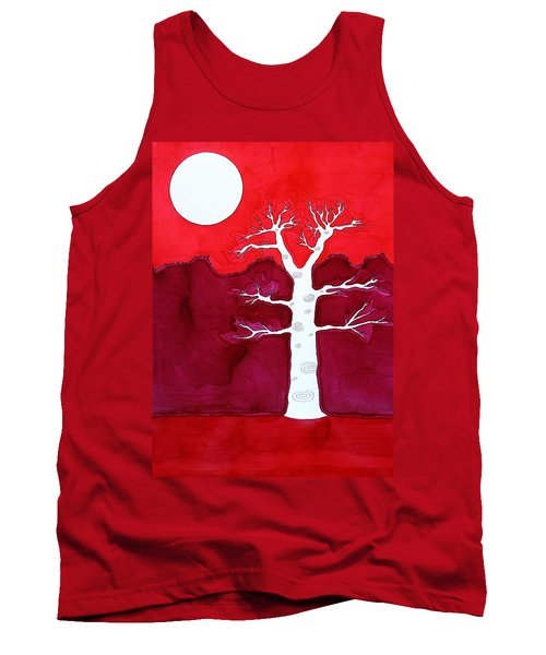 Canyon Tree Original Painting Tank Top by Sol Luckman
