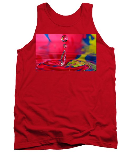 Tank Top featuring the photograph Colorful Water Drop by Peter Lakomy