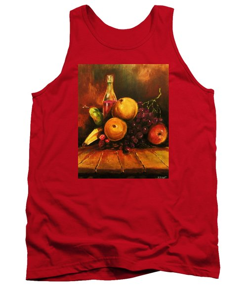 Tank Top featuring the painting Fruit And Wine by Al Brown