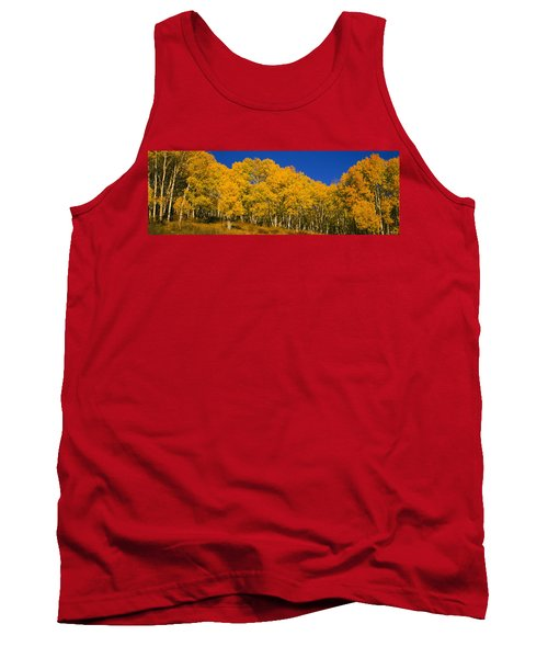 Low Angle View Of Aspen Trees Tank Top
