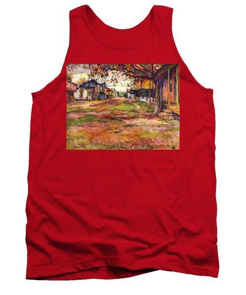 Main Street Of Early Spanish California Days San Juan Bautista Rowena M Abdy Early California Artist Tank Top