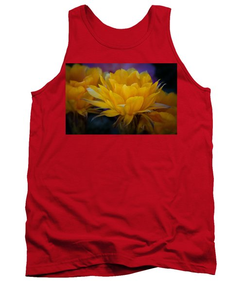 Orange Cactus Flowers  Tank Top