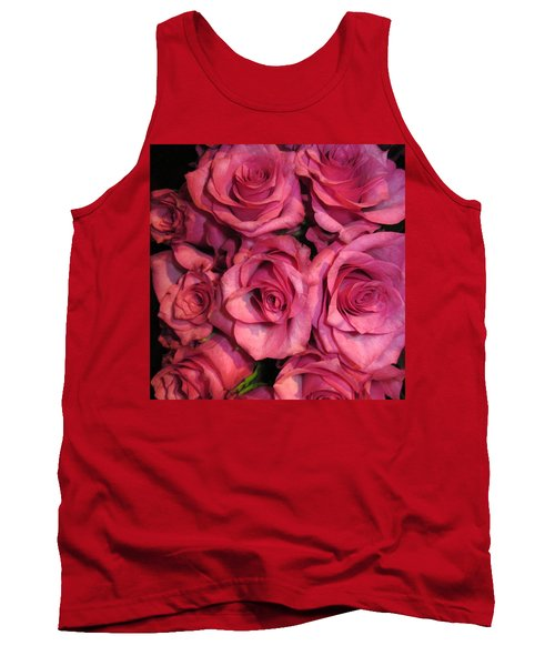 Rosebouquet In Pink Tank Top