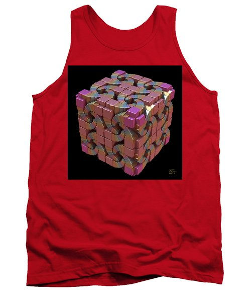 Tank Top featuring the digital art Spiral Box IIi by Manny Lorenzo