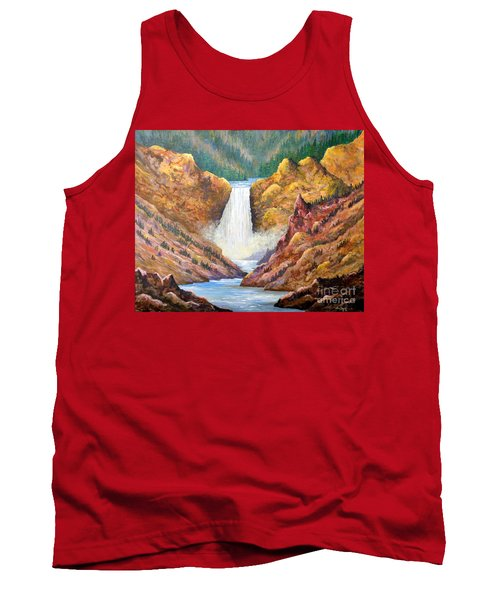 Yellowstone Falls Tank Top by Lou Ann Bagnall